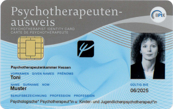 Elektronischer Psychotherapeutenausweis kann jetzt bestellt werden!